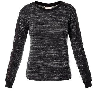 Rebecca Taylor Lace-trimmed sweatshirt