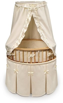 Badger Basket Elite Oval Baby Bassinet - Natural/Ecru Waffle