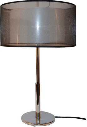 Sharper Image Table Lamp, Two-tiered Shade
