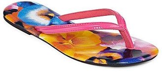 JCPenney Watercolor Floral Thong Sandals