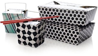 Crate & Barrel Set of 6 Party Plaid Food Boxes