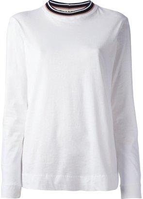 Marni contrast neckline top