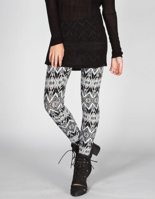 Full Tilt Diamond Ethnic Print Womens Leggings