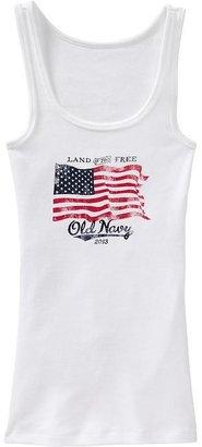 Old Navy Women's 2013 Flag Graphic Tanks