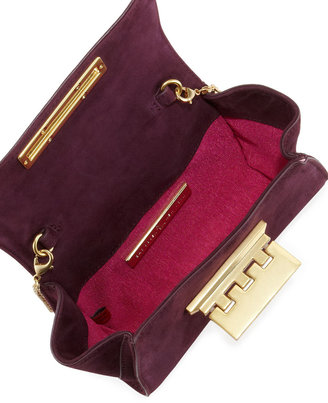 Z Spoke Zac Posen Eartha Mini Suede Crossbody Bag, Plum