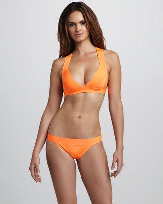 Herve Leger Neon Cross-Back Bandage Bikini
