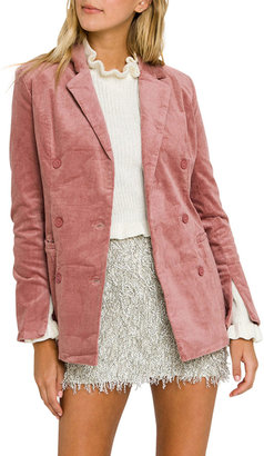 Endless Rose Double-Breasted Corduroy Jacket