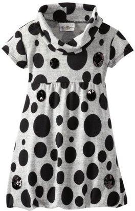 Rare Editions Big Girls' Dot Cowl Neck Knit Dress