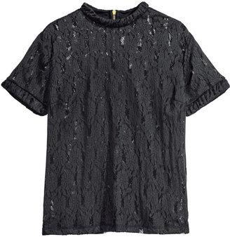 H&M Lace Top - Black - Ladies
