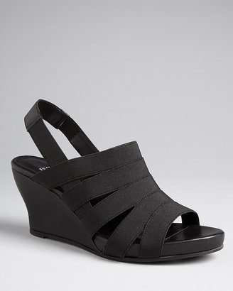 Eileen Fisher Strappy Elastic Sandals - Pact Wedge