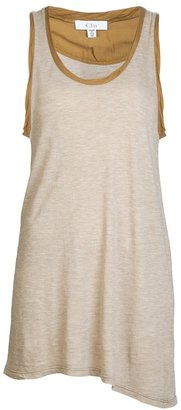 Clu Silk banded tank top