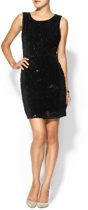 Miss Me Mesh back Sequin Mini