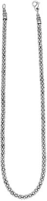 Lagos Sterling Silver 4mm Caviar Chain Necklace