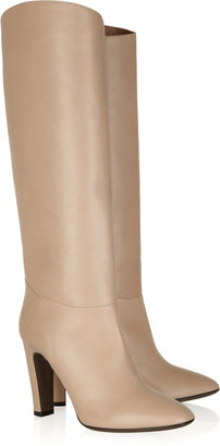 Valentino Leather knee boots