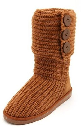 Charlotte Russe Fold-Over Sweater Knit Boot