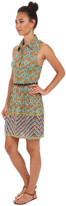 Angie Belted Print Dress