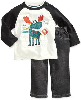 Kids Headquarters Baby Set, Baby Boy 2 Piece Raglan Shirt and Pant Set