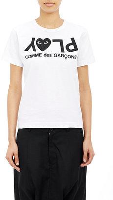 Comme des Garçons PLAY Women's Logo Tee $98 thestylecure.com