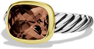 David Yurman Noblesse Ring with Smoky Quartz with Gold
