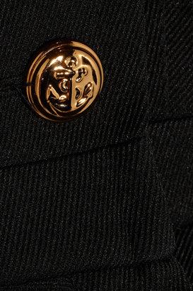 McQ Marine Dart gabardine peplum jacket