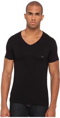 Emporio Armani - Stretch Cotton V-Neck Tee Men's Underwear $30 thestylecure.com