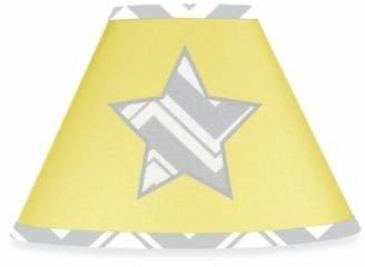Sweet Jojo Designs Zig Zag Chevron Lamp Shade in Grey/Yellow