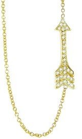 Jennifer Meyer Yellow Gold Small Diamond Arrow Necklace
