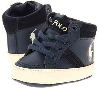 Ralph Lauren Talbound (Infant) (Navy Leather-Cream) - Footwear