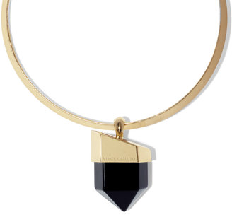 Vince Camuto Gold And Onyx Pendant Choker