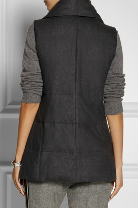 DKNY DKNYpure quilted wool-flannel vest