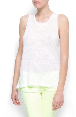 MANGO Asymmetric linen top