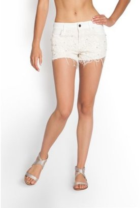 GUESS Scarlet Denim Shorts with Lace and Rhinestones