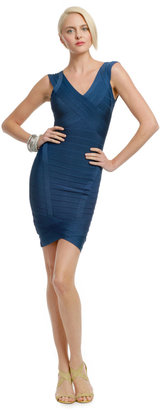 Herve Leger Deep Passion Fruit Dress