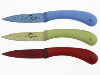 Paula Deen 3-pc. Signature Cutlery Paring Knife Set, Assorted