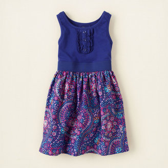 Children's Place Knit 'n woven tank dress