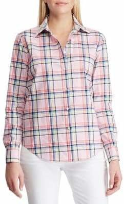Chaps Petite No-Iron Cotton Button-Down Shirt