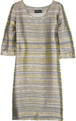 Jay Ahr Striped Lurex dress