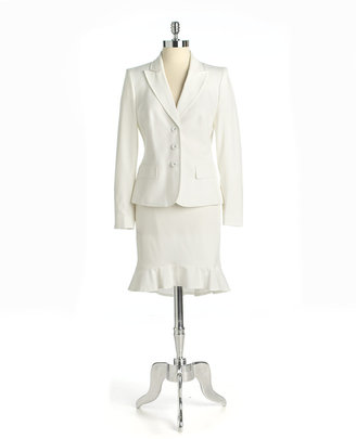 Anne Klein SUIT Ruffled Skirt Suit