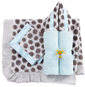 Swankie Blankie Slate Spot Hooded Towel, Blue