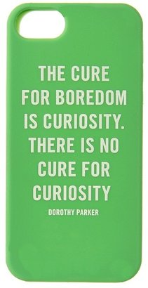 Kate Spade Curiosity Quote Phone Case for iPhone 5 (Shamrock) - Electronics