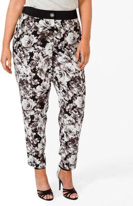 Forever 21 FOREVER 21+ Rose Pattern Trousers