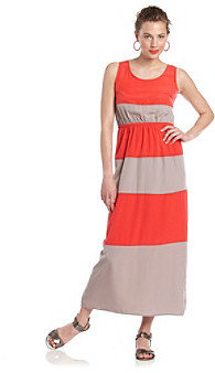 Pink Rose® Juniors' Stripe Maxi Dress