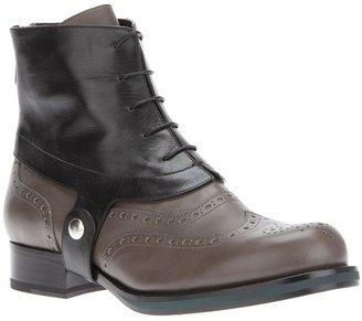 Jil Sander harness brogue boot
