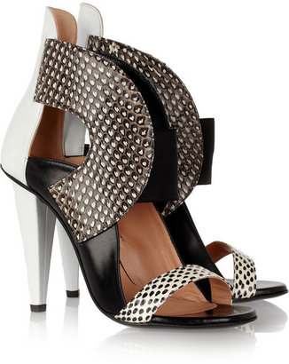 Roland Mouret Dolls elaphe and leather sandals