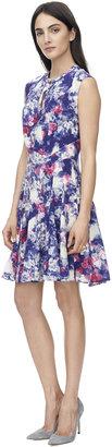 Rebecca Taylor Short Sleeve Rose Garden Godet Dress