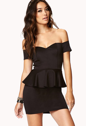 Forever 21 Off-The-Shoulder Bodycon Dress