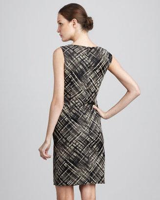 Lafayette 148 New York Vania Leather-Panel Dress
