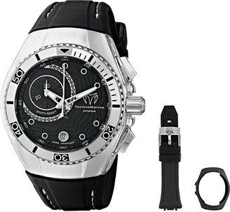 Technomarine Unisex 114031 Cruise One Analog Display Swiss Quartz Black Watch