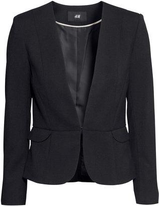 H&M Fitted Blazer - Black - Ladies