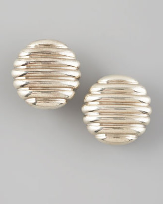 John Hardy Rippled Oval Earrings